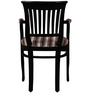 Eyre Arm Chair in Espresso Walnut Finish by Amberville