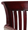 Eyre Arm Chair in Passion Mahogany Finish by Amberville
