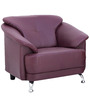 Edo One Seater Sofa in Maroon Colour by Furnitech