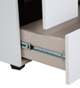 Edwina High Gloss Dresser with Mirror in White Colour by HomeTown