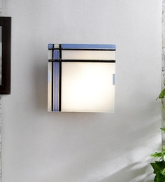 Eglo White And Blue Glass Wall Mounted Light