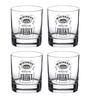 Ek Do Dhai 300 ML Friskey Whisky Glasses  - Set of 4
