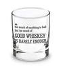 Ek Do Dhai 280 ML Rock Whiskey Glass - Set Of 4