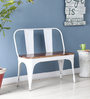 Ekati Bench in White Color by Bohemiana