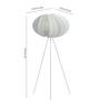 Ekko White Polypropylene Disca Led Tripod Floor Lamp
