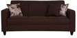 Elena Three Seater Sofa with Cushions in Peanut Brown Colour by CasaCraft