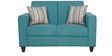 Elena Two Seater Sofa with Throw Cushions in Capri Blue Colour by Casacraft