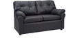 Elzada Comfy Two Seater Sofa in Black Colour by Furny