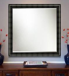 Elegant Arts And Frames Black Wooden Decorative Wall Mirror - 1539316