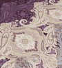 Elegance Sophiya Gray Cotton Floral 98 x 96 Inch Bed Sheet Set (with Pillow Covers)