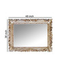 Godefroy Decorative Mirror in Silver by Amberville