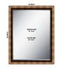 Bibiana Bath Mirror in Brown by CasaCraft