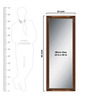 Elegant Arts & Frames Brown Wooden Decorative Full Length Dressing  Mirror