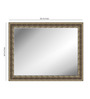 Albans Bath Mirror in Brown by Amberville