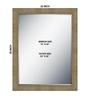 Barwick Bath Mirror in Cream by Amberville