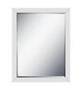 Niteroi Minimalist Mirrors in White by CasaCraft
