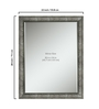 Beatrice Bath Mirror in Silver by Amberville