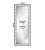 Arundel Bath Mirror in Silver by Amberville