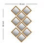 Elegant Arts And Frames Antique Gold Synthetic Wood Mirrors Collage