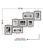 Elegant Arts and Frames Black Synthetic 72 x 1 x 45 Inch Group 7-A Wall Collage Photo Frame