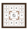 Edmundo Collage Photo Frame in Brown by CasaCraft