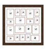 Efrain Collage Photo Frame in Brown by CasaCraft