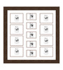Edgardo Collage Photo Frame in Brown by CasaCraft