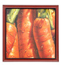 Elegant Arts and Frames Paper 22.5 x 22.5 Inch Carrots Framed Art Print