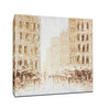 Elegant Arts and Frames Canvas 27.6 x 27.6 Inch City by Denny Abraham Framed Painting