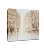 Elegant Arts and Frames Multicolor Canvas 27.6 x 27.6 Inch City by Denny Abraham Framed Painting