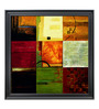Elegant Arts and Frames Paper 38.5 x 38.5 Inch Compartments II Framed Art Print