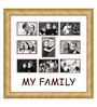 Elegant Arts and Frames Cream Wooden 26 x 1 x 27 Inch My Family Collage Photo Frame
