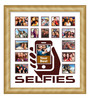 Elegant Arts and Frames Cream Wooden 26 x 1 x 28 Inch Selfies Pattern 3 Collage Photo Frame