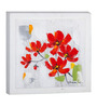 Elegant Arts and Frames Multicolor Canvas 15.7 x 15.7 Inch Flostract by Remya Rakesh Framed Painting