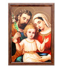 Elegant Arts and Frames Canvas 22.5 x 30.5 Inch Holy Family Framed Digital Art Print