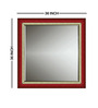 Marcial Minimalist Mirrors in Maroon by CasaCraft