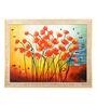 Elegant Arts and Frames Canvas & Wood 33.5 x 1 x 25.5 Inch Red Tulips Framed Original Oil painting