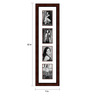 Enrique Collage Photo Frame in Red by CasaCraft