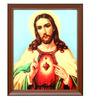 Elegant Arts and Frames Canvas 18.5 x 22.5 Inch Sacred Heart Framed Art Print