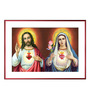 Elegant Arts and Frames Canvas 22 x 16 Inch Sacred Heart Immaculate Framed Art Print