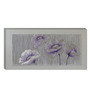 Elegant Arts and Frames Canvas 39.4 x 19.7 Inch Violet Flowers by Remya Rakesh Framed Painting