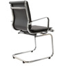 Elegant Mid back Fixed Office Chair in Black Colour by FabChair
