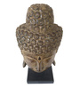 Eleganze Decor Brown Wooden Buddha Mask on Stand Showpiece