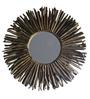 Eleganze Decor Brown Wooden Driftwood Round Mirror
