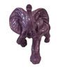 Eleganze Decor Purple Resin Elephant Showpiece