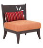 Elissa One Seater Sofa in Rust color by Furnitech