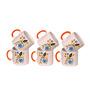 Elite Floral Ceramic 200 ML Tea Cups Set - Set of 6
