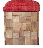Ella Box Pouffe Natural  Finish by Inliving
