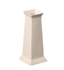 Ellielle Artefacts White Ceramic Design Sqaure Vase