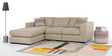 Emilio Superb L Shape Sofa in Biege Colour by Furny